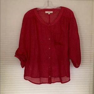 Magenta pink loft blouse